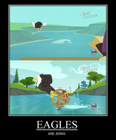 Eagles Are Jerks Meme by Hewylewis