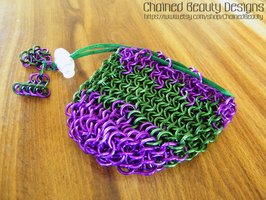 Purple and Green Bag by ChainedBeauty