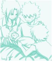 SasuNaru: Lovely Family by honeyf