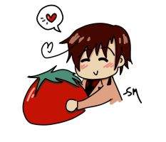 Romano and His Tomato :) by Hetaliagirl133