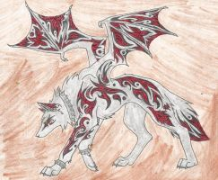 Caltrez- Wolf by LadyLewind