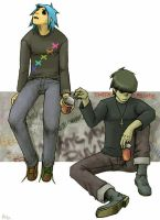 2D and Murdoc by KOUYA-SURA