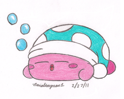 Sleep Kirby by MarioSimpson1