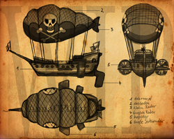 A Pirate's Airship by Trooperella