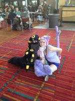 Umbreon and Espeon by Glam-Baby
