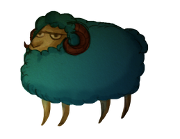 Magnificent Blue Sheep by Lordfell