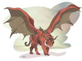 Tiger manticore illustration by snikers15