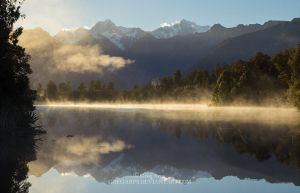 Lake Matheson, sunrise by GregArps