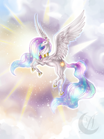 My Little Horse: princess Celestia by Anzhelee