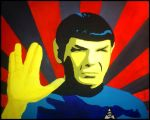Mr Spock - Star Trek TOS - Pop Art Acryl by pa-he