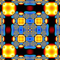 Golden'Blue Mandala by Kancano