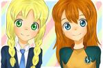 Helen and Haruka | Main OCs by xLittleLuu