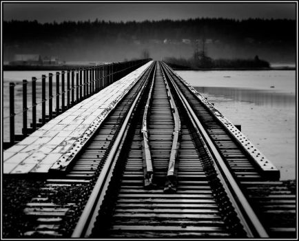 Tracks to hill... by GreatExposure