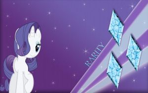 Rarity Wallpaper by PedroRabidBunny