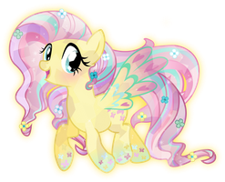 Rainbow Power: Crystal Fluttershy by TheShadowStone