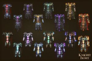 Knightfight armors by sash4all
