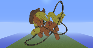 Applejack Jumping a Rope by Racingcat