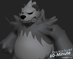 Pangoro - 60-Minute Practice Sculpt by GaryStorkamp