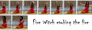 fire witch evoking the fire 1 by syccas-stock