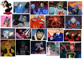 80' Animated Villains by DarkwingHomer