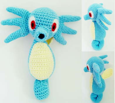 Crochet Horsea by bekichat