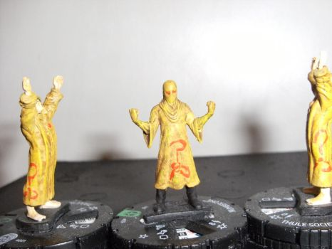 Yellow Sign Militia cultists by annoyinglizardvoice