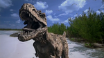 Gorgosaurus Roars in the Beach by WillDynamo55