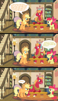 Breakfast with the Apple Family by jaybugjimmies