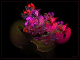 Violin and Flowers by Szellorozsa