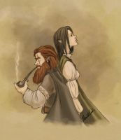 Anadriwen and Turg'urs Firebeard by rfcunha