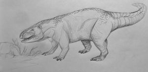 Postosuchus sketch by SpiderMilkshake