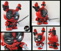 RASK OPTICON deadpool kidrobot dunny by rAskopticon