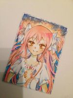 Madoka Magica Copic ACEO / ATC by Lemonsquasch