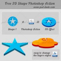 3D Photoshop Action by PsdDude