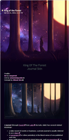 King Of The Forest Journal Skin by Bliood-Kira