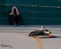 Destroying a Board- Sad by Nova51Photography