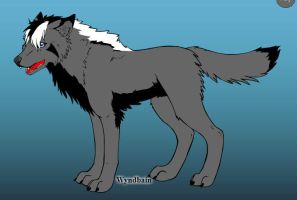 Cloud the wolf on wolf maker by lavademon55