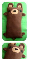 PLUSH PILLOW - bear by LoRi-La-Tortuga