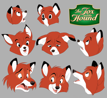The Fox and the Hound: Tod Headshot by khalamithy