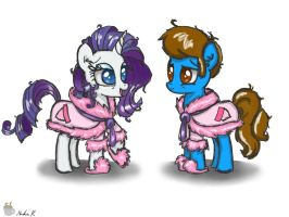 Good morning Blaine and Rarity by FinnishGirl97