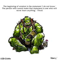 Wise Words from Thrall by aokamidu