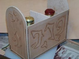 potion case wip 1a by MerrillsLeather
