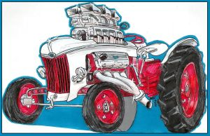 Ford Tractor Car-Toon by AaronsDesk