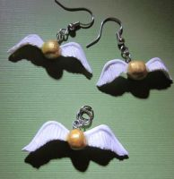 Golden Snitch Pendent Set by audreymika