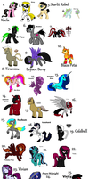 5 Point Pony Adopts - LOTS by iPandacakes