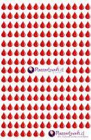 Red Drops Printable Stickers by AnacarLilian