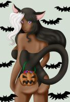 Enila the Black Cat Helloween by Line-arts