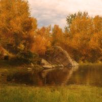 Autumn Pond Premade Background 2 by VIRGOLINEDANCER1