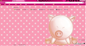 Cute Pig Theme 4 google chrome by kyoyaanime