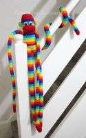 Mr Skittles the Giant Sock Monkey by bicyclegasoline
